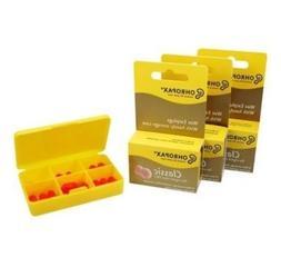 3 Pack of Ohropax Wax Cotton Ear Plugs - 36 Earplugs Total w