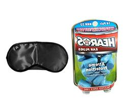 Hearos Xtreme Protection Foam Ear Plugs  & MaskCraft Airline
